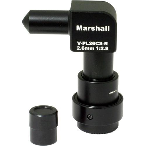 Marshall Electronics V-PL26CS-R 2.6mm f/2.8 CS Mount Right Angle Pinhole Lens