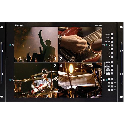 """Marshall Electronics V-R171P-4A-PAL 17"""" Rack Mountable LCD Monitor (PAL)"""