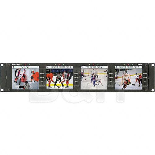"Marshall Electronics V-R44P Quad 4"" LCD Monitor Unit Rack Mountable"
