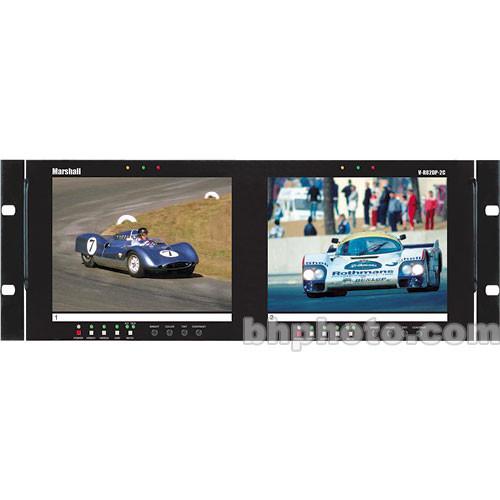 "Marshall Electronics V-R82DP-2C Dual Rack Mount 8.4"" LCDs"