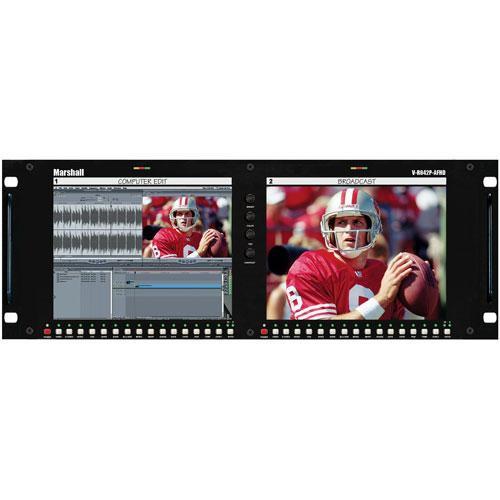 "Marshall Electronics V-R842DP-AFHD 8.4"" High Definition 2-LCD Rackmount"