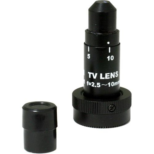 Marshall Electronics V-ZPL-05-01  CS Mount 2.5-10mm Mini Zoom Pinhole Lens With Removable Pinhole Cap