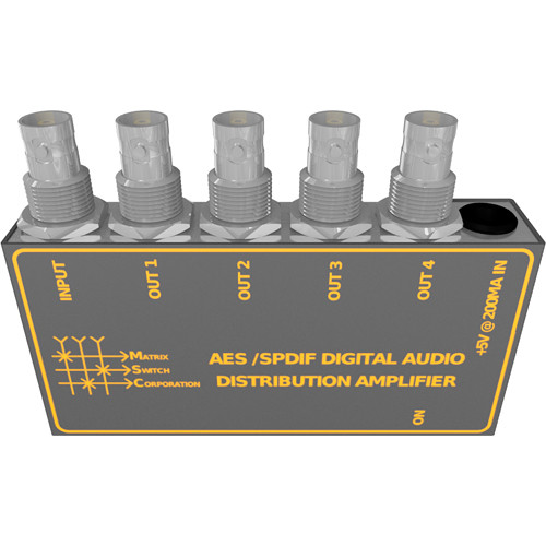 Matrix Switch AES / SPDIF Digital Audio Distribution Amplifier (1 x 4)