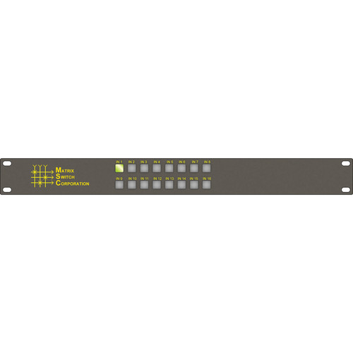 Matrix Switch 16 x 1 HD-SDI/SDI Video Routing Switcher with AES3 Audio