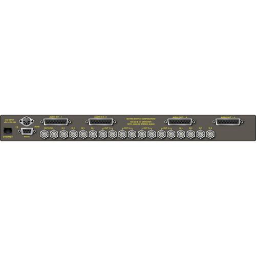 Matrix Switch 8 x 4 HD-SDI/SDI Video Routing Switcher with Stereo Analog Audio