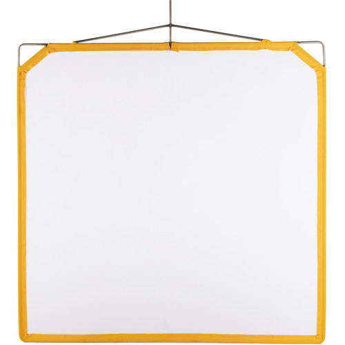 """Matthews Solid Frame Scrim - 48x48"""" - White Artificial Silk"""