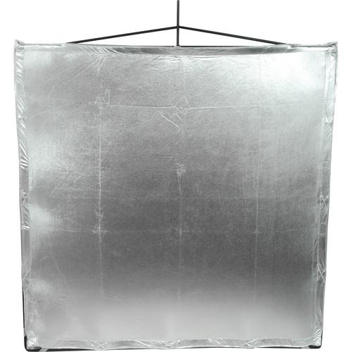 "Matthews RoadFlag Fabric, Silver  Lame 48x48"""