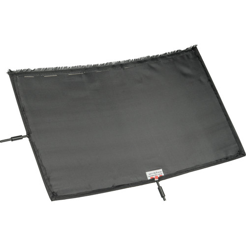Matthews Black Artificial Silk Scrim - 12x20""