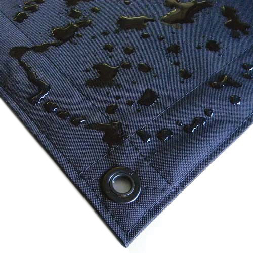 Matthews 8x8' Overhead Fabric - Black Artificial Silk