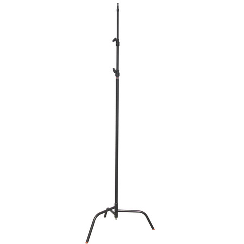 Matthews Black C Stand w/Spring-Loaded Base (Black)