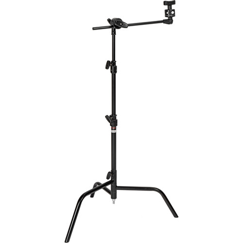 """Matthews 20"""" C+ Stand with Turtle Base, Grip Head and Arm Kit (Black)"""