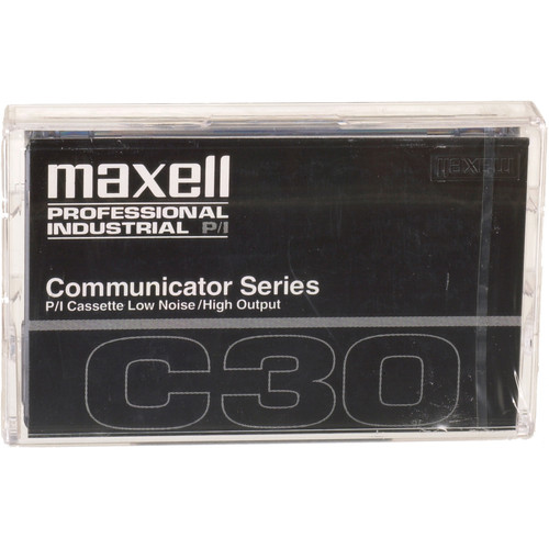 Maxell Communicator Series Normal Bias 30 Minute w/ Case and Labels