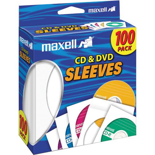 Maxell CD-402 CD/DVD White Paper Sleeves (Pack of 100)