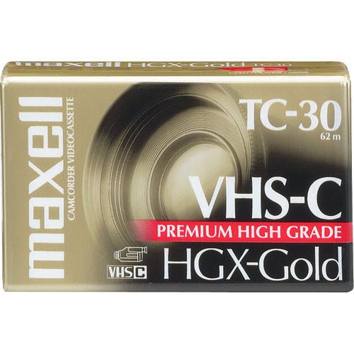 Maxell HGX-Gold TC30 VHS-C Premium High Grade Video Cassette