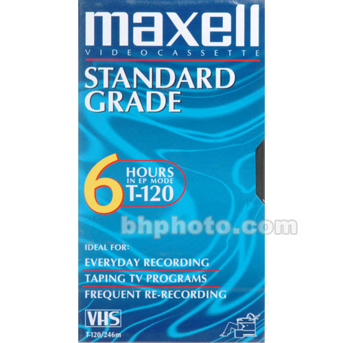 Maxell T-120 VHS Video Cassette