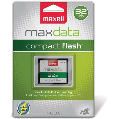 Maxell 32GB CompactFlash Memory Card maxdata 400x