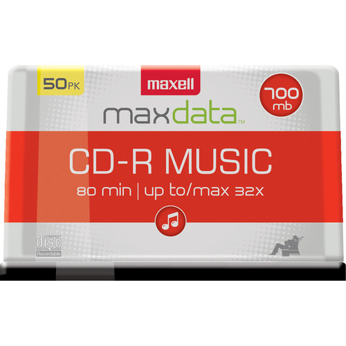 Maxell CD-R 80 32x Music Gold for Audio Recording (Spindle Pack of 50)