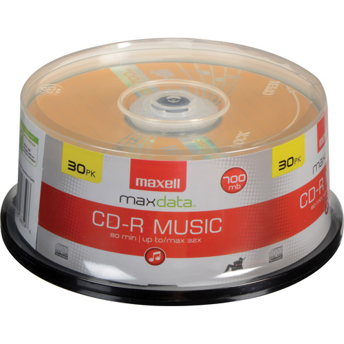 Maxell CD-R 80 Minutes (700MB) for Music Gold (30-Pack Spindle)