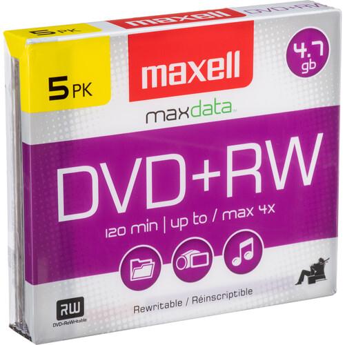 Maxell DVD+RW 4.7GB, 4x Disc (5)