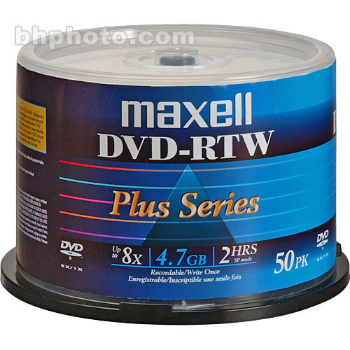 Maxell DVD-RTW 4.7GB Thermal Printable 8x Disc (50)