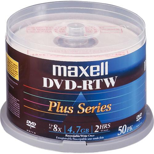 Maxell DVD-RTW 4.7GB Thermal/Hub Printable 8x Disc (50)