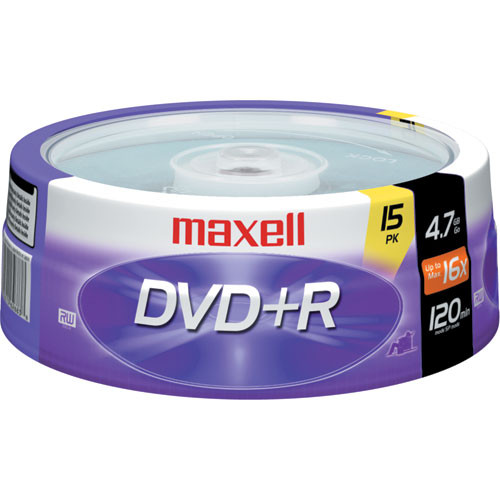 Maxell DVD+R 4.7GB, 16x Disc (15)
