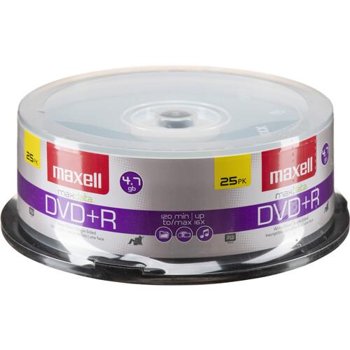 Maxell DVD+R 4.7GB, 16x Disc (25)
