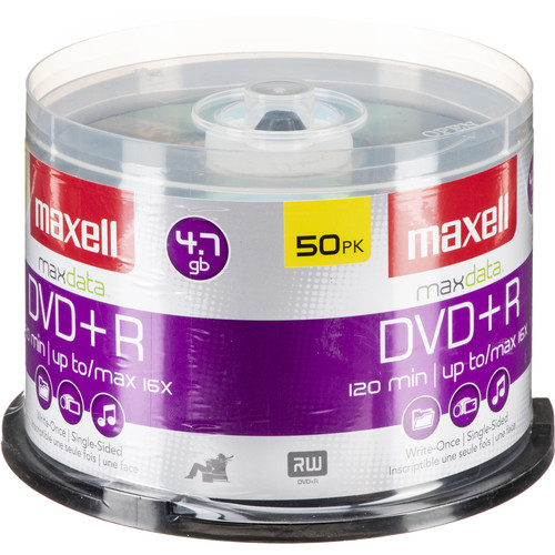 Maxell DVD+R 4.7GB, 16x Disc (50)