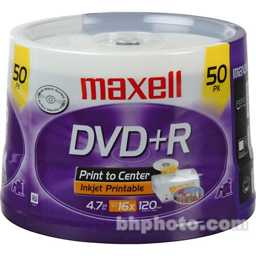 Maxell DVD+R 4.7GB, White Inkjet Disc