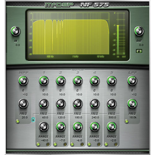 McDSP NF575 HD Noise Filter v5 - High Resolution Filter Set Plug-In (TDM/RTAS/AU)