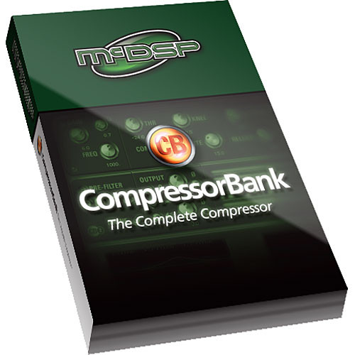 McDSP CompressorBank Native - Vintage and High-End Modern Compressor Emulation Plug-In for Applications Supporting RTAS and AudioSuite Under Mac OS X 10.4.x and Windows XP - Upgrade for Owners of CompressorBank LE