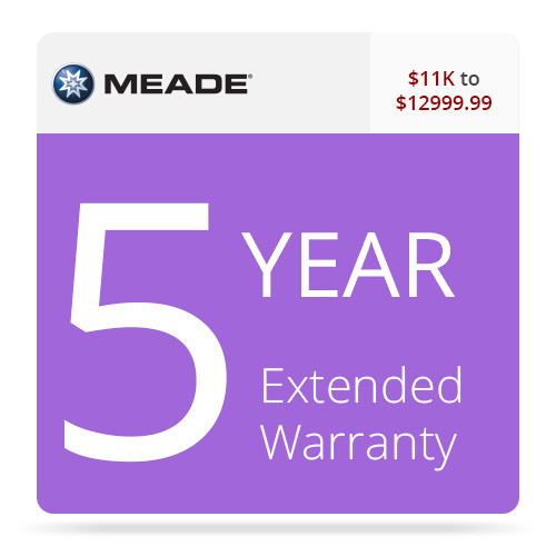 Meade 5-Year Extended Warranty for $11000-12999.99 Telescopes