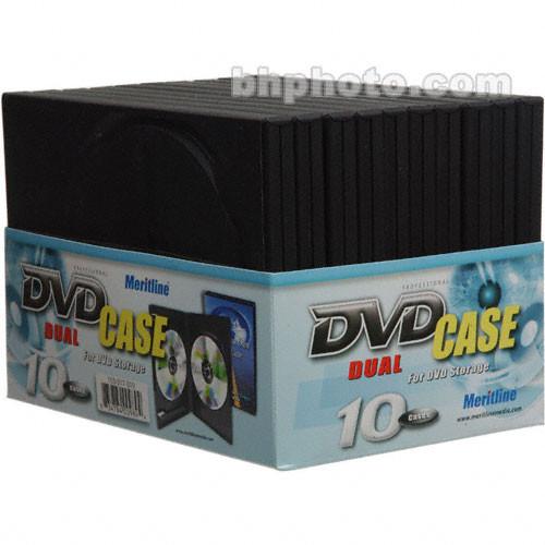 Merit Line Black Dual DVD Case (10)