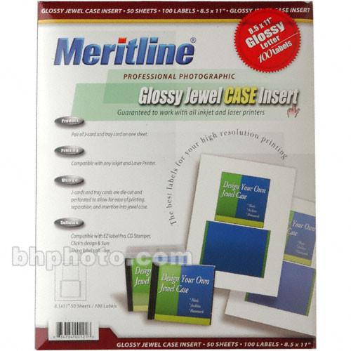 Merit Line Glossy Insert for Jewel Case - 50 Sheets