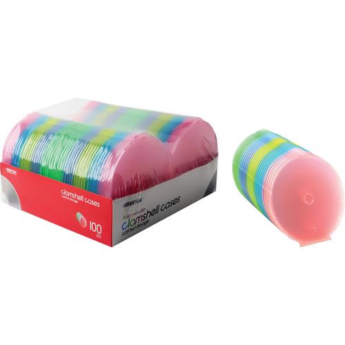Merit Line 100-Pack CD Slim Clam Shell Cases (Multi-Color)