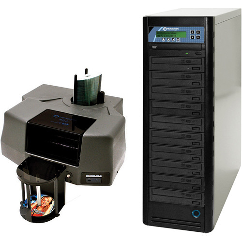 Microboards PF-3 Print Factory Printer and DVD Tower Pro 1016 Duplicator (Bundle)