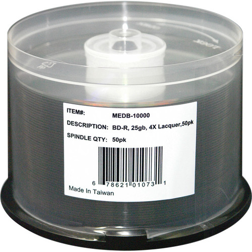 Microboards MEDB-10000 Blu-ray Media (50-Disc Spindle)