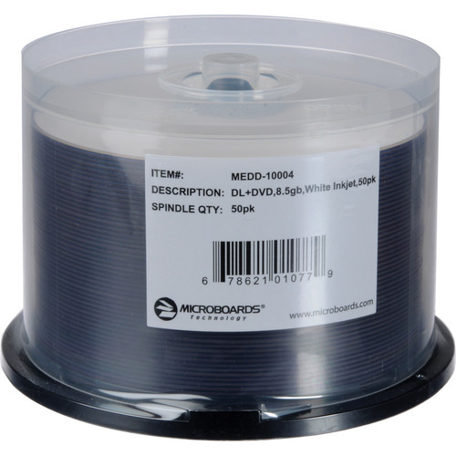Microboards MEDD-10004 DVD+R Dual-Layer Media (50-disc Spindle)
