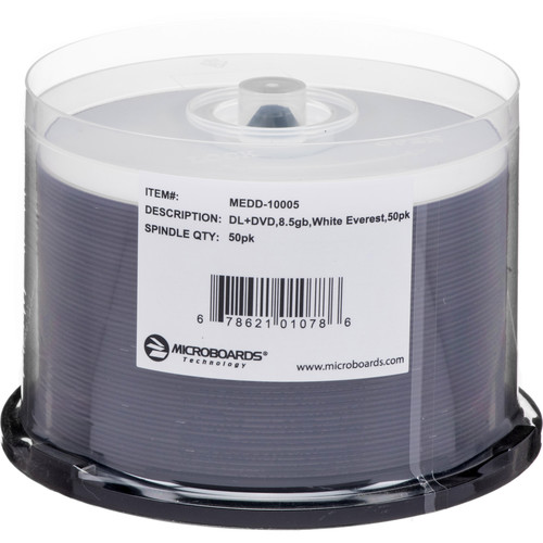 Microboards MEDD-10005 DVD+R Dual-Layer Media (50-disc Spindle)