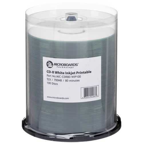 Microboards CD-R White Inkjet 52x (100 Pk Spindle)