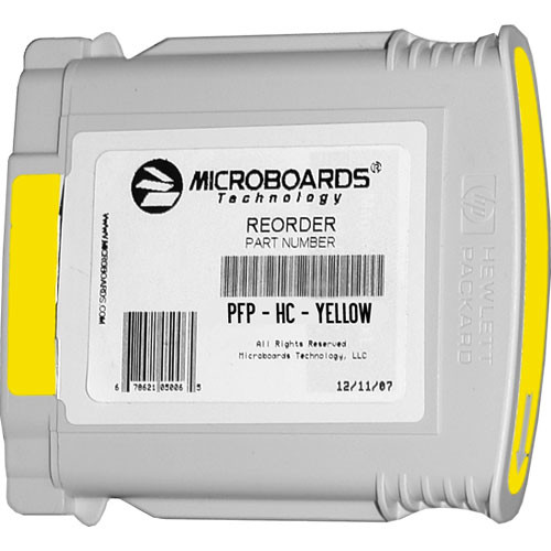 Microboards Yellow Ink Cartridge for Microboards MX1, MX2 & PF-Pro Printers