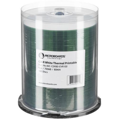 Microboards Printable 52x CD-R (100-Pack) For Rimage Everest Printer
