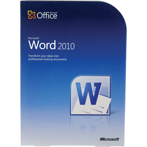 Microsoft Word  2010 Software