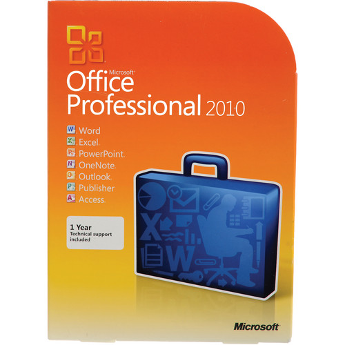 Microsoft Office Professional 2010 Software (DVD)