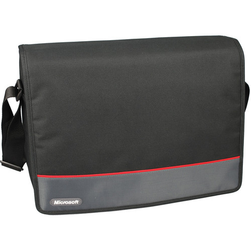 "Microsoft 15.6"" Messenger Laptop Bag (Black)"