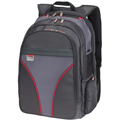 "Microsoft 39307 16"" MT Laptop Backpack (Red Trim)"