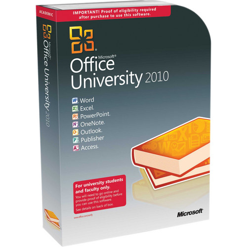 Microsoft Office University 2010 Software Service Pack 1 32-bit