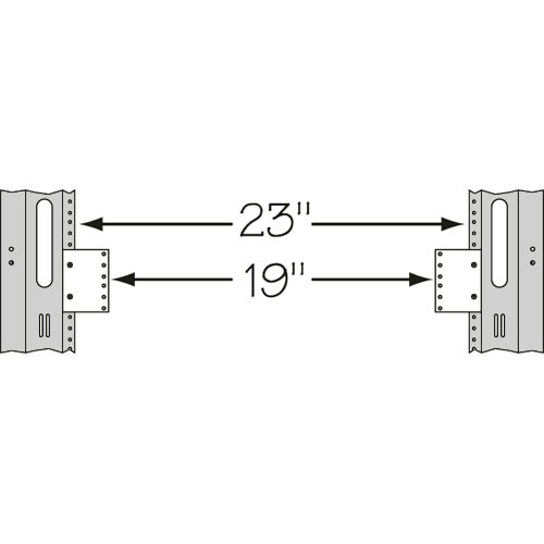 """Middle Atlantic 23191 23 to 19"""" 1U Space Reducer"""