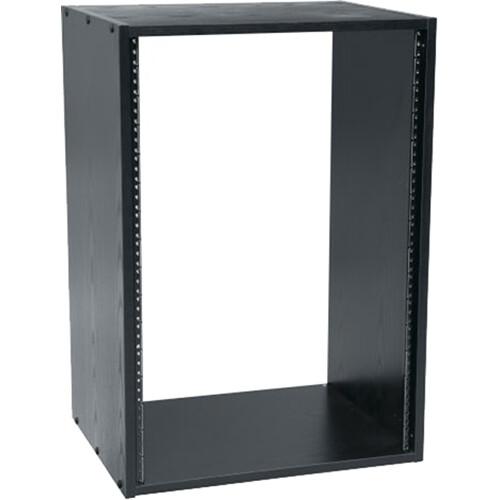 Middle Atlantic BRK16-28 Black Laminate Rack (16 Spaces)