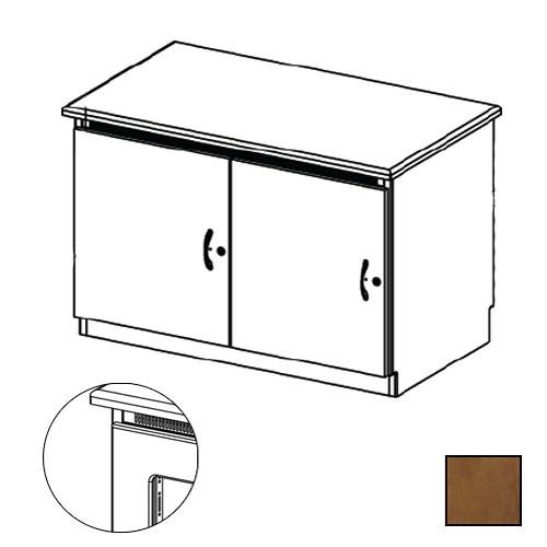 Middle Atlantic Credenza Rack Finishing Kit (Contemporary, 2 Bay, Smoked Plexiglass Doors)